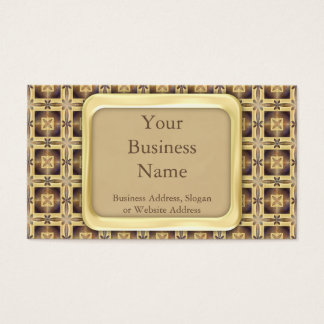 Puntada cruzada tarjeta de negocios