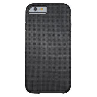 Puntada de aluminio cepillada gris oscuro de la funda de iPhone 6 tough