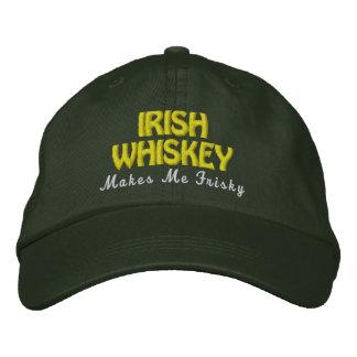 Puntada juguetona del oro del gorra del verde del  gorras bordadas