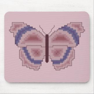 Puntada violeta y de color de malva de la cruz de  mouse pad