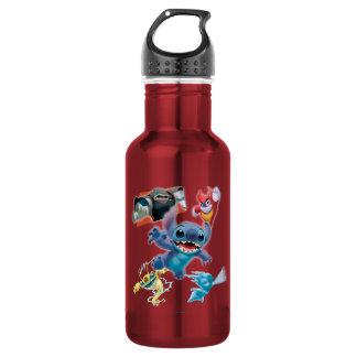 Puntada y amigos botella de agua