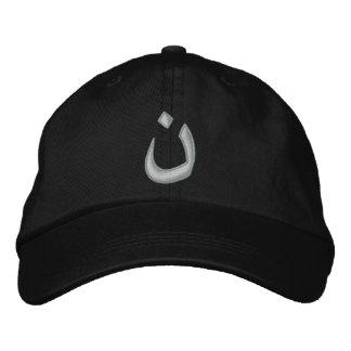 Puntadas cristianas de la solidaridad del símbolo gorra de béisbol