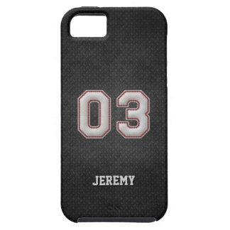 Puntadas del béisbol del número 03 con mirada funda para iPhone SE/5/5s