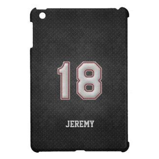 Puntadas del béisbol del número 18 con mirada