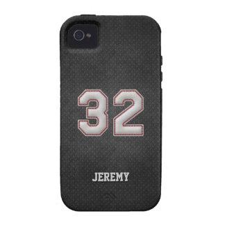 Puntadas del béisbol del número 32 con mirada Case-Mate iPhone 4 carcasa