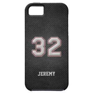 Puntadas del béisbol del número 32 con mirada iPhone 5 fundas