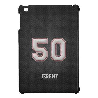 Puntadas del béisbol del número 50 con mirada negr iPad mini cárcasas