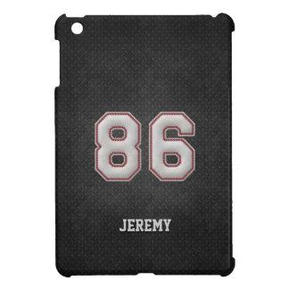 Puntadas del béisbol del número 86 con mirada