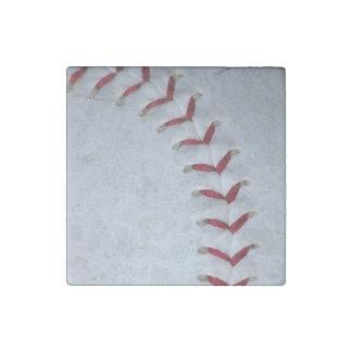 Puntadas del béisbol imán de piedra