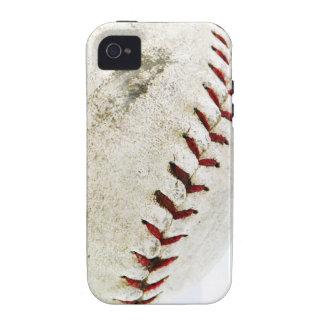Puntadas del béisbol o del softball del vintage iPhone 4 carcasas