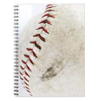 Puntadas del béisbol o del softball del vintage notebook