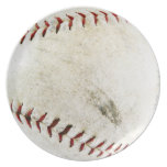 Puntadas del béisbol o del softball del vintage platos de comidas