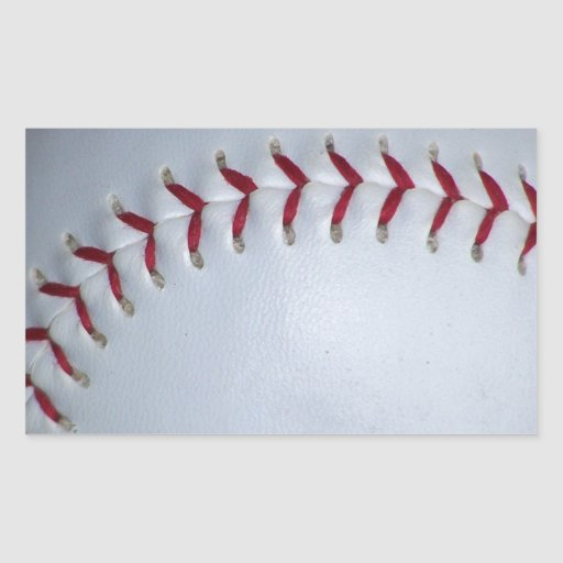 Puntadas del béisbol pegatina rectangular