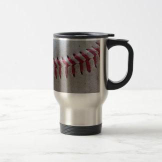 Puntadas del béisbol taza de viaje de acero inoxidable