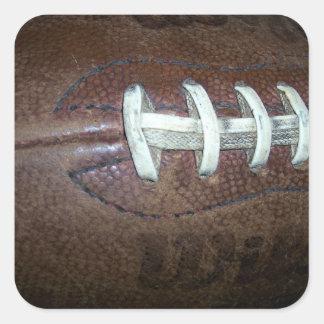 Puntadas del fútbol pegatina cuadrada