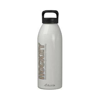 Puntadas del hockey botellas de agua reutilizables