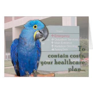 Puntadas del hospital tarjeta de felicitación