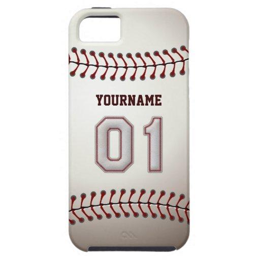 Puntadas frescas del béisbol - número de encargo 0 iPhone 5 Case-Mate carcasa