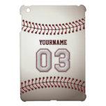 Puntadas frescas del béisbol - número de encargo 0 iPad mini cárcasas