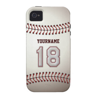 Puntadas frescas del béisbol - número de encargo 1 iPhone 4/4S carcasas