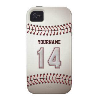 Puntadas frescas del béisbol - número de encargo 1 iPhone 4 carcasa
