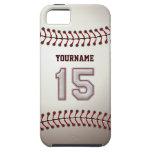 Puntadas frescas del béisbol - número de encargo 1 iPhone 5 Case-Mate fundas