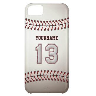 Puntadas frescas del béisbol - número de encargo 1 funda para iPhone 5C