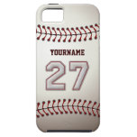 Puntadas frescas del béisbol - número de encargo 2 iPhone 5 cárcasa