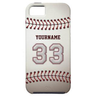 Puntadas frescas del béisbol - número de encargo 3 iPhone 5 Case-Mate carcasa