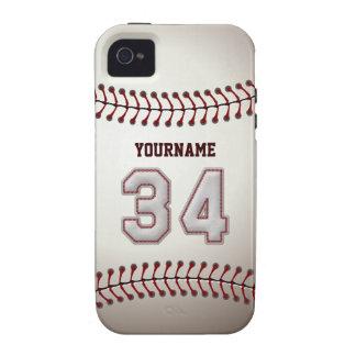Puntadas frescas del béisbol - número de encargo 3 vibe iPhone 4 fundas