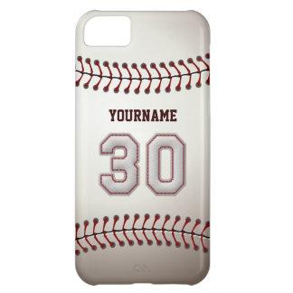 Puntadas frescas del béisbol - número de encargo 3 funda para iPhone 5C