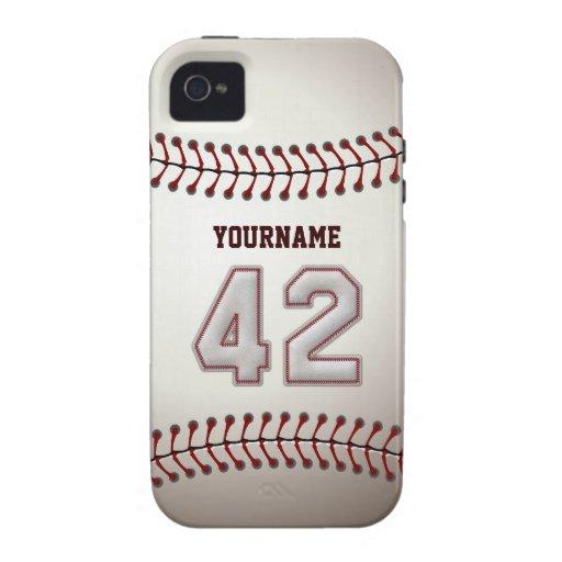 Puntadas frescas del béisbol - número de encargo 4 iPhone 4 funda