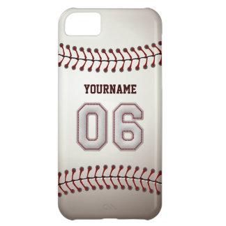 Puntadas frescas del béisbol - número de encargo carcasa para iPhone 5C