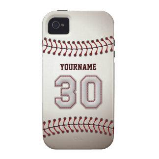Puntadas frescas del béisbol - número de encargo Case-Mate iPhone 4 carcasas