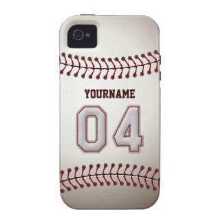 Puntadas frescas del béisbol - número de encargo iPhone 4 funda