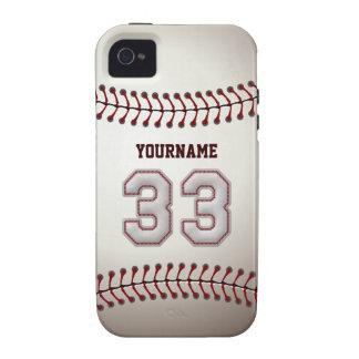 Puntadas frescas del béisbol - número de encargo iPhone 4/4S carcasa