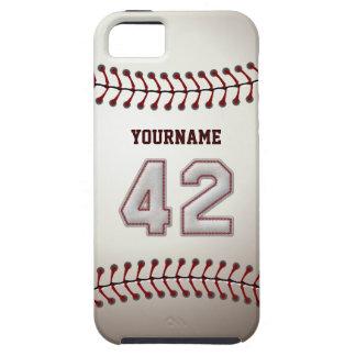 Puntadas frescas del béisbol - número de encargo iPhone 5 carcasas
