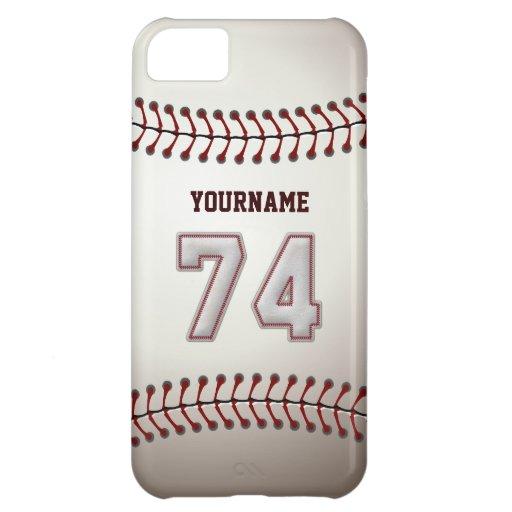 Puntadas frescas del béisbol - número de encargo funda iPhone 5C