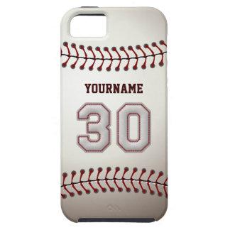 Puntadas frescas del béisbol - número de encargo funda para iPhone 5 tough