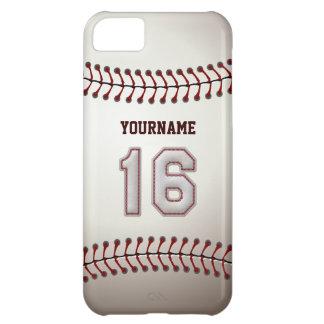 Puntadas frescas del béisbol - número de encargo funda para iPhone 5C