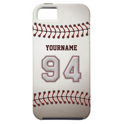 Puntadas frescas del béisbol - número de encargo iPhone 5 carcasa