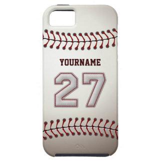 Puntadas frescas del béisbol - número de encargo iPhone 5 funda
