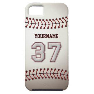 Puntadas frescas del béisbol - número de encargo iPhone 5 fundas
