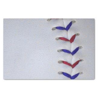 Puntadas rojas y azules del béisbol/del softball papel de seda pequeño