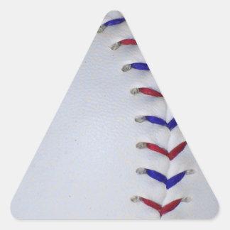 Puntadas rojas y azules del béisbol/del softball pegatina triangular