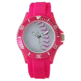 Puntadas rosadas del softball relojes