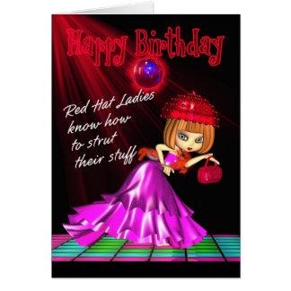 Puntal de la tarjeta de cumpleaños de Red Hat su m