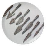 Puntas de flecha, edad de hierro (hierro) plato