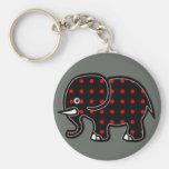 puntea el elefante llavero redondo tipo pin