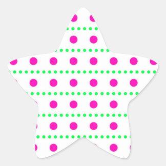 punteado puntuado tocan ligeramente pünktchen pegatina en forma de estrella